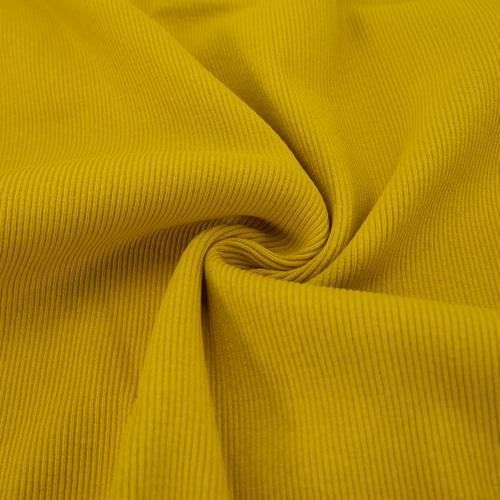 Ткань на отрез кашкорсе 3-х нитка с лайкрой цвет горчичный фото 1