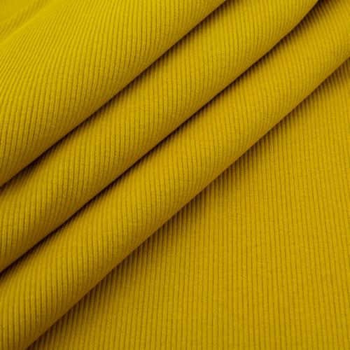 Ткань на отрез кашкорсе 3-х нитка с лайкрой цвет горчичный фото 4