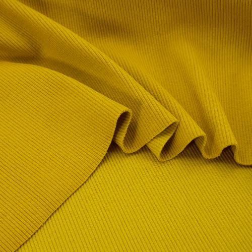 Ткань на отрез кашкорсе 3-х нитка с лайкрой цвет горчичный фото 3