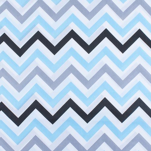 Ткань на отрез поплин 150 см 1797/2 цвет голубой фото 1