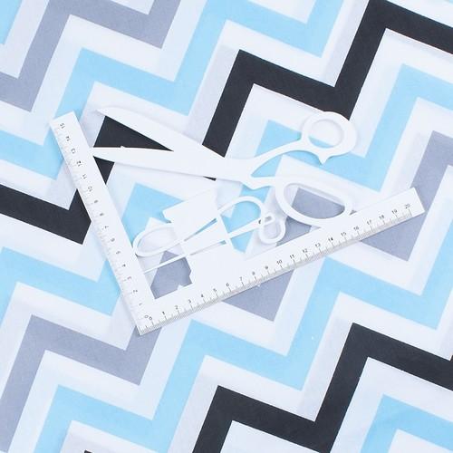 Ткань на отрез поплин 150 см 1797/2 цвет голубой фото 2