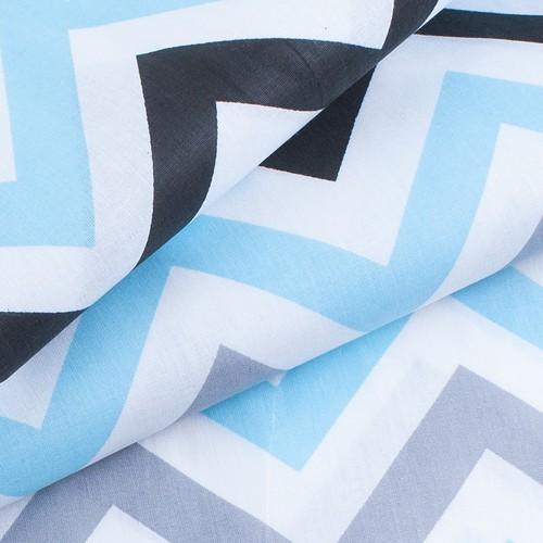 Ткань на отрез поплин 150 см 1797/2 цвет голубой фото 3