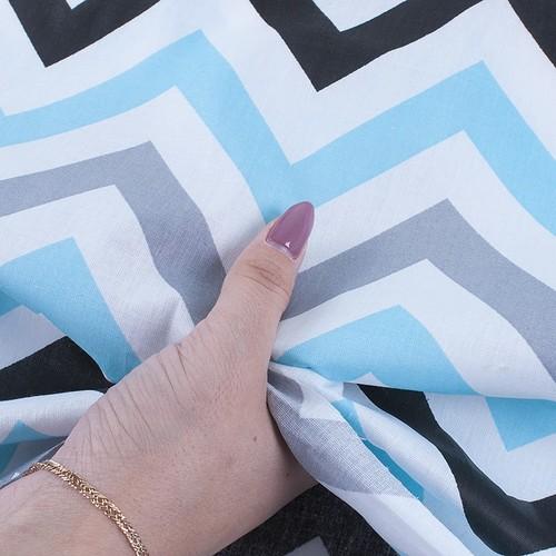 Ткань на отрез поплин 150 см 1797/2 цвет голубой фото 4