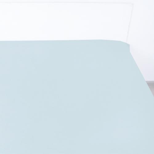 Простыня сатин 14-4504 цвет серо-голубой 1.5 сп фото 1