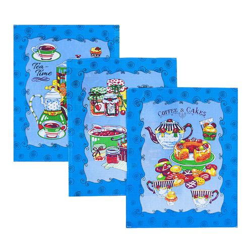 Набор вафельных полотенец 3 шт 45/60 см 383/2 фото 1