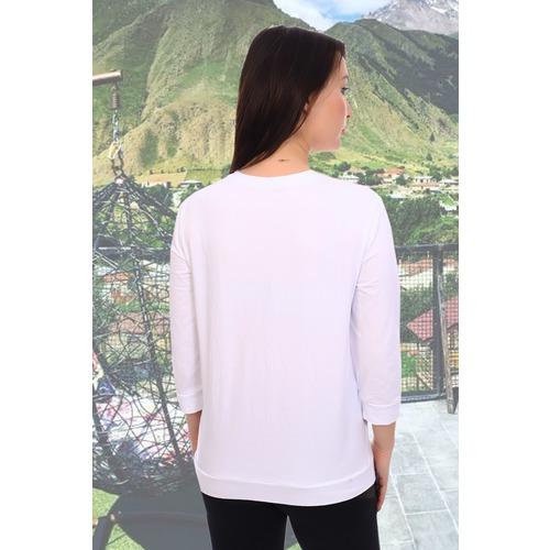 Блуза 10224 белая р 42 фото 3