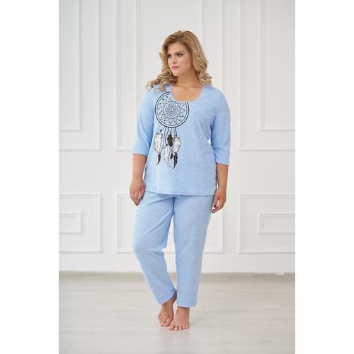 Пижама 0661 цвет Голубой р 46 фото 1