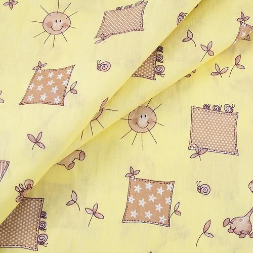 Маломеры бязь ГОСТ детская 150 см 366/4 Жирафики цвет желтый 5 м фото 2
