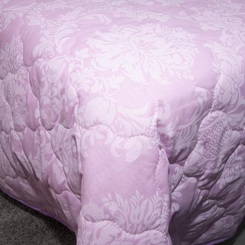 Покрывало стеганое Агат (розовый) 10333/3 пудра 240/210 Евро фото 3