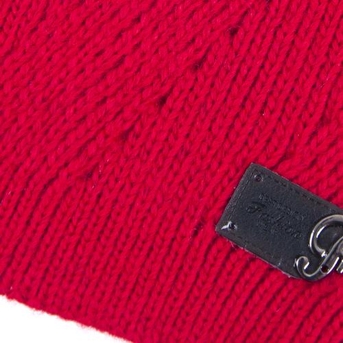 Шапка женская 45 цвет красный фото 2