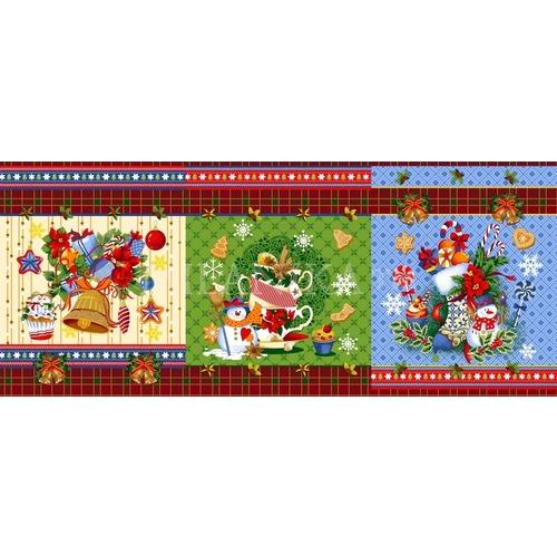 Ткань на отрез вафельное полотно набивное 150 см Новогодние чудеса 11133/1 фото 1