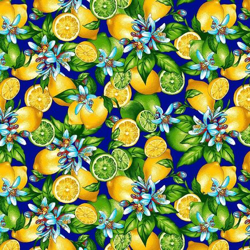 Ткань на отрез фланель грунт 150 см 622-3п Лимоны фото 1