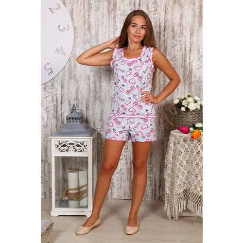 Пижама Майя Бантики Б1 р 48 фото 1
