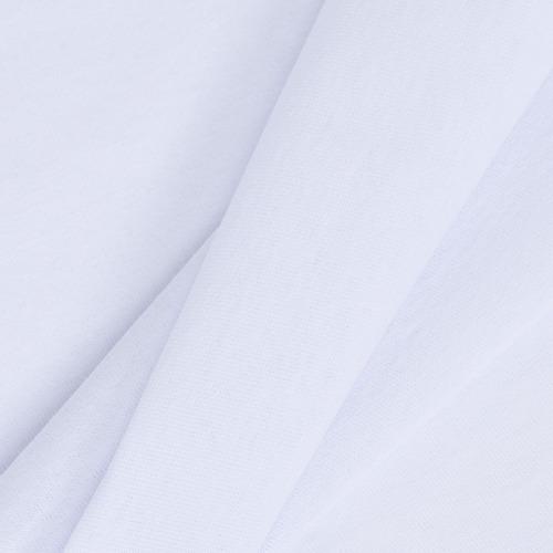 Мерный лоскут кулирка с лайкрой цвет белый 0,1 м фото 2