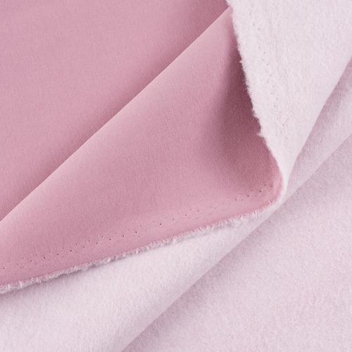 Маломеры футер 3-х нитка компакт пенье начес цвет светло-розовый 0.4 м фото 1