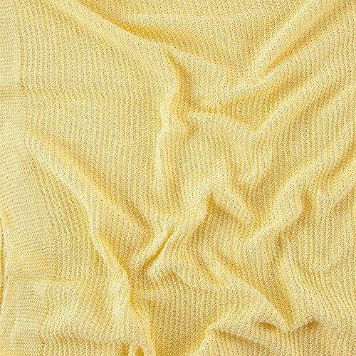 Покрывало-плед Петелька 180/200 цвет желтый фото 3