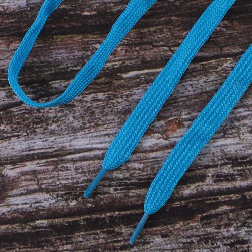 Шнурки плоские, голубой 115см уп 2 шт фото 1
