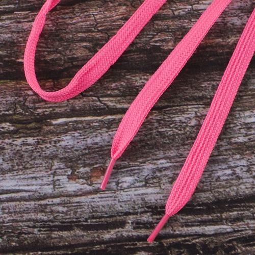 Шнурки плоские, розовый 115см уп 2 шт фото 1