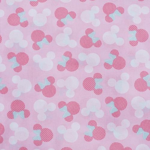 Ткань на отрез перкаль 150 см 13176/1 Минни цвет розовый фото 1