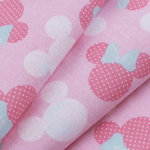 Ткань на отрез перкаль 150 см 13176/1 Минни цвет розовый фото 2