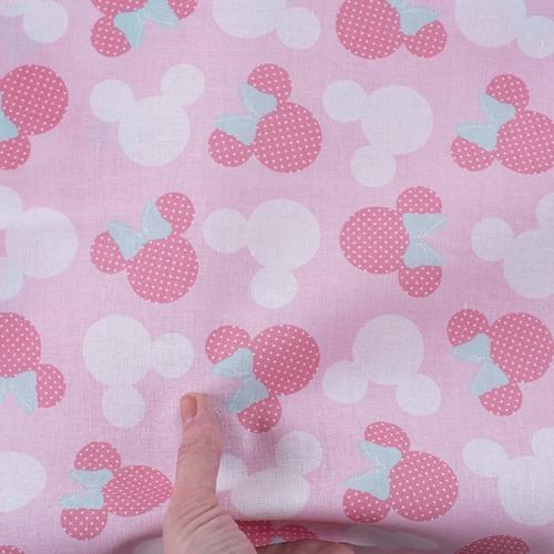 Ткань на отрез перкаль 150 см 13176/1 Минни цвет розовый фото 4
