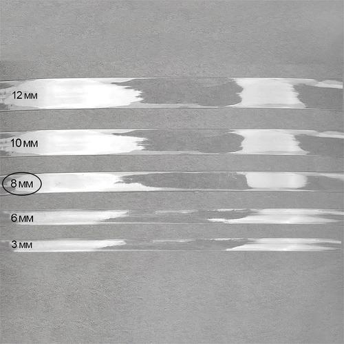 Лента силиконовая блестящая ширина 8 мм толщина 0.3 мм фото 1