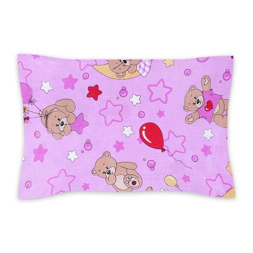 Наволочка бязь ГОСТ детская 350/3 Мишки цвет розовый 40/60 см фото 1