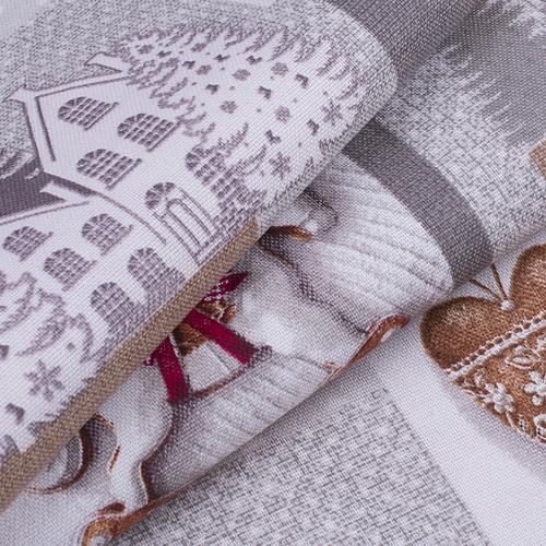 Ткань на отрез рогожка 150 см 11470/1 Лапландия фото 4