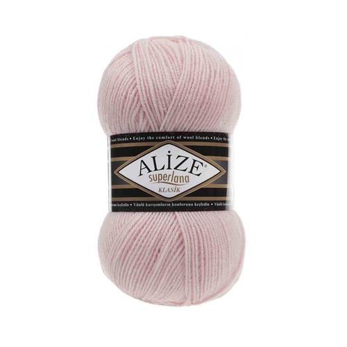 Пряжа ALIZE SUPERLANA KLASIK 271-жемчужно-розовый (25% шерсть 75% акрил) фото 1