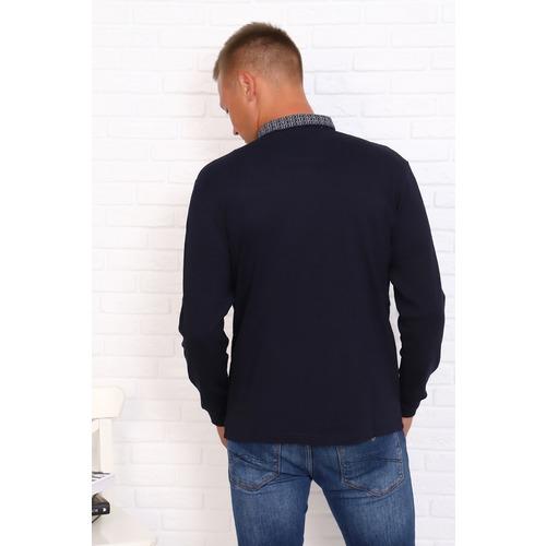 Джемпер 22110 цвет темно-синий р 52 фото 2