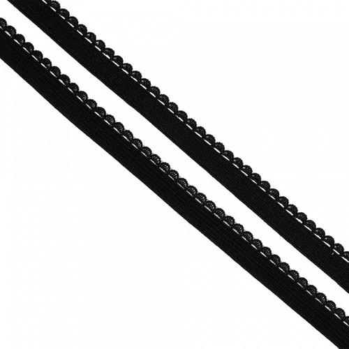 Резинка TBY бельевая 8 мм RB02322 цвет F322 черный 1 метр фото 1
