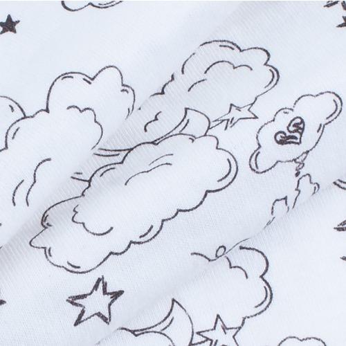 Ткань на отрез кулирка карде Облака 1261-V1 фото 3