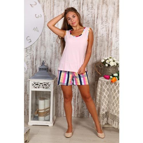 Пижама Шорты «Аня» Розовая Б23 р 50 фото 1