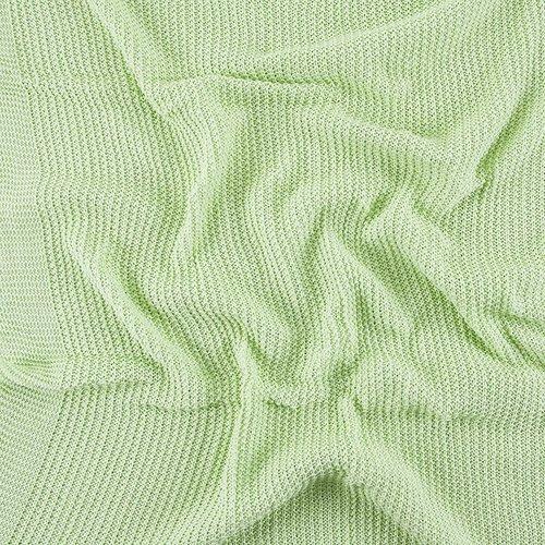 Покрывало-плед Петелька 150/200 цвет салатовый фото 4