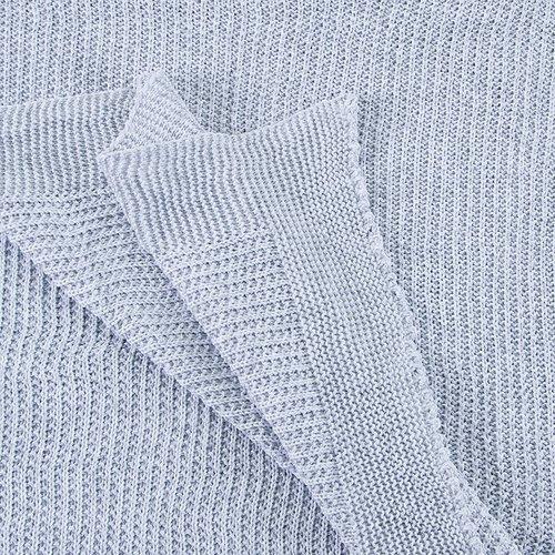 Покрывало-плед Петелька 150/200 цвет серый фото 3