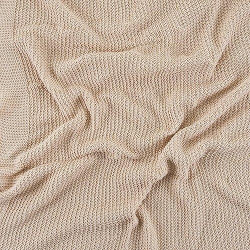 Покрывало-плед Петелька 150/200 цвет бежевый фото 4