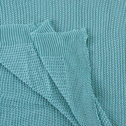 Покрывало-плед Петелька 150/200 цвет зеленый фото 3