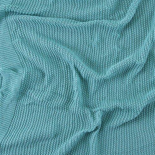 Покрывало-плед Петелька 150/200 цвет зеленый фото 4