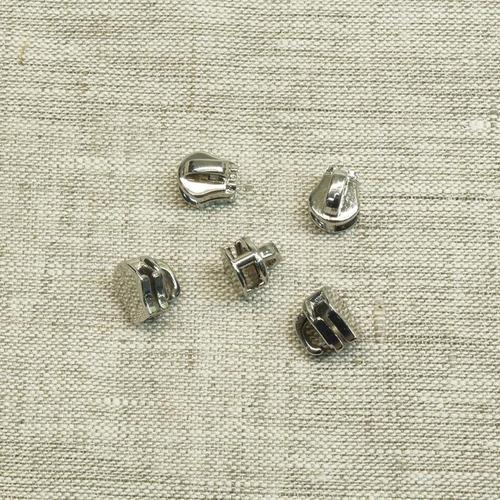 Слайдер галантерейный №5 никель без подвеса фото 1