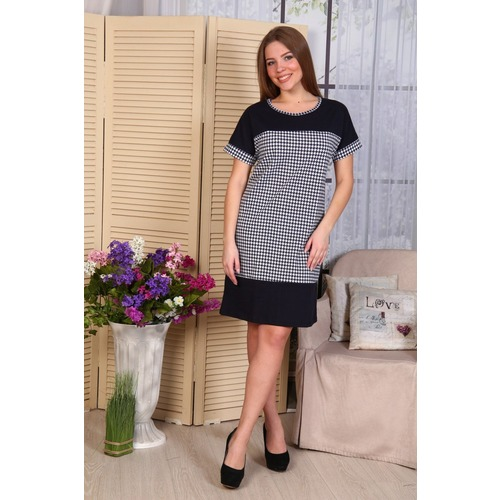 Платье с кокеткой Нинель гус.лапка Д486 р 42 фото 1