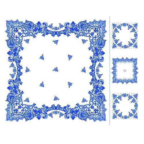 Набор ситец Шуя 69251 женский платок головной и три носовых платка фото 1