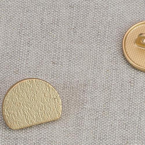 Пуговица металл ПМ52 18мм матовое золото уп 12 шт фото 1