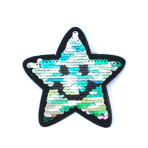Термоаппликация ТАП 013 трансформер звезда разноцветная 8,5см фото 1