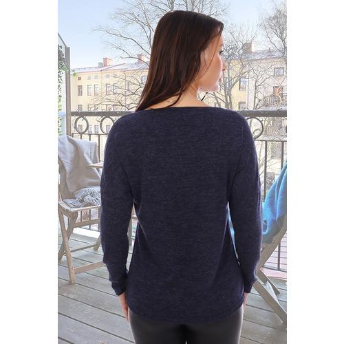 Блузка Пейзаж 8706 темно-синяя р 44 фото 2