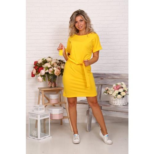 Платье Новелла желтое Д525 р 50 фото 1