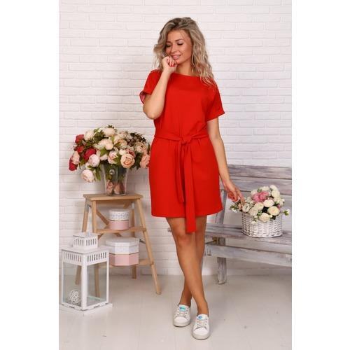 Платье Новелла красное Д525 р 46 фото 1
