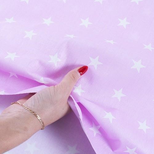 Ткань на отрез бязь плательная 150 см 1700/2 цвет розовый фото 4