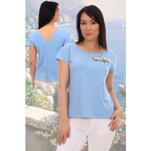 Блузка Фантастика 11684 голубая р 50 фото 1