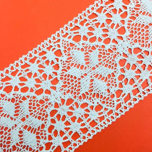 Кружево лен 2209 Белый 11,5см 1 метр фото 1