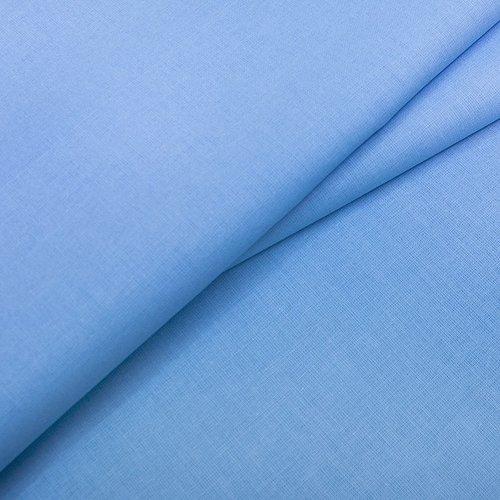 Ткань на отрез бязь ГОСТ Шуя 150 см 12410 голубой фото 2